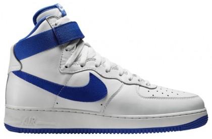 Nike Air Force 1 High Retro - Summit White/Game Royal - Men's Shoes