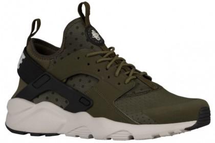 Nike Air Huarache Run Ultra - Men's Shoes - Cargo Khaki/Light Bone/Black