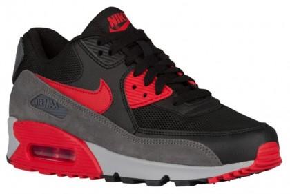 Nike Sportswear Air Max 90 Essential - Women's Running Shoes - Black/University Red/Dark Grey/Wolf Grey
