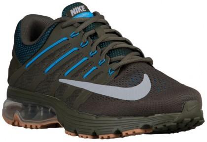 Nike Air Max Excellerate 4 - Cargo Khaki/Wolf Grey/Blue Glow/Gum Medium Brown - Men's Running Shoe