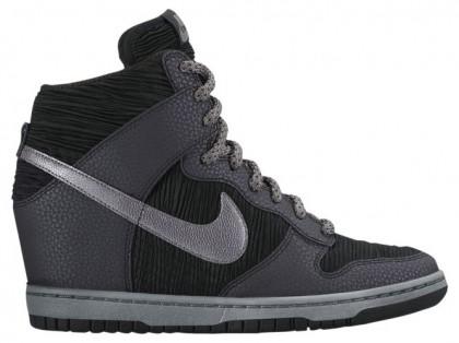 Nike Dunk Sky Hi - Black/Metallic Hematite/Black/Coolt Grey - Women's Sneaker